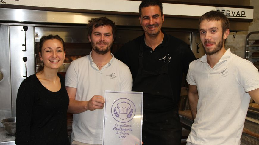 Cyrille, Florian, Frédéric et Florent de la Maison Lamour, boulangerie à Bordeaux