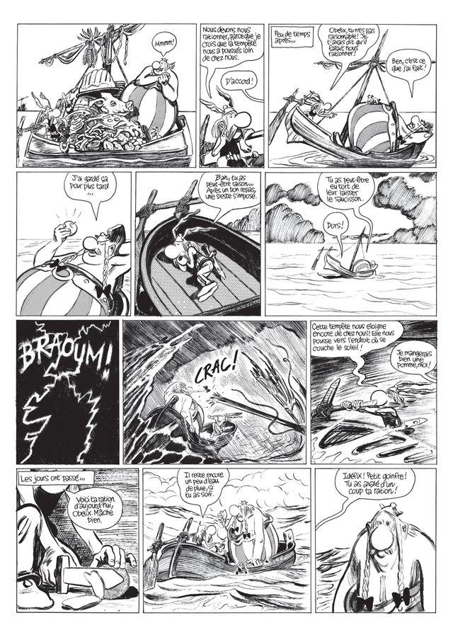 La Grande Traversée d'Astérix d'après Uderzo, une planche tirée de Variations de Blutch