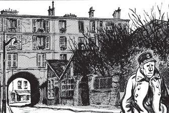 """Détail d'une planche de Variations de Blutch qui rend hommage à """"120 rue de la gare"""" de Jacques Tardi"""