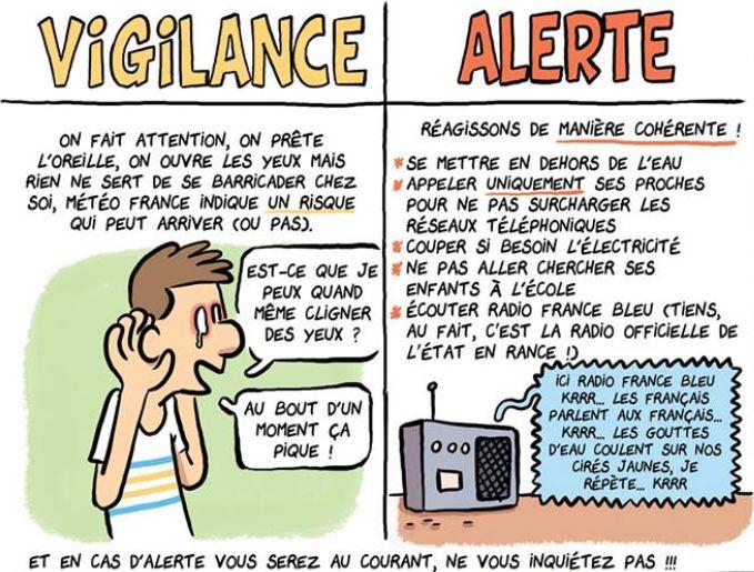 Fabien Toumé a dessiné la radio à écouter pendant les inondations: France Bleu
