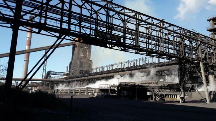 L'usine ArcelorMittal dans la zone indutrielle de Fos-sur-Mer