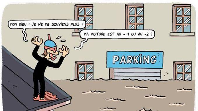 """La BD """"Quoi une inondation??"""" est dessinée par Fabien Toulmé pour l'Université d'Avignon"""