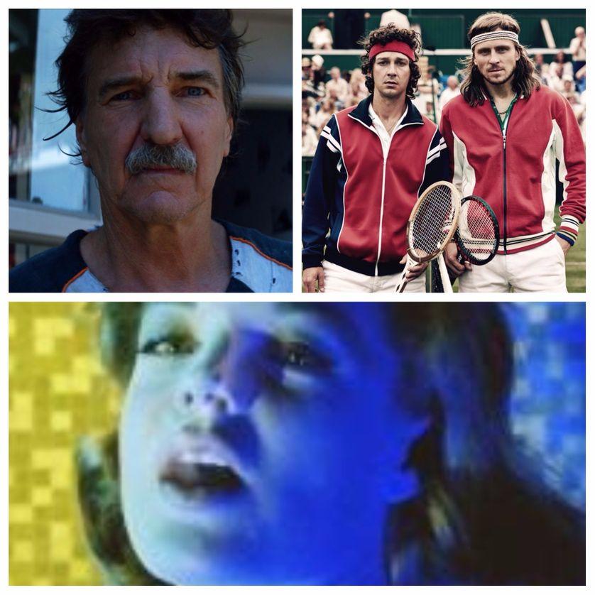 En haut à gauche : We Blew It ; à droite : Borg/McEnroe ; en bas : Clouzot - L'essentiel