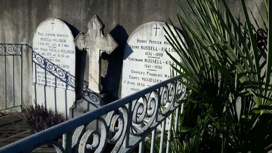 La tombe d'Henry Russell au cimetière de Pau