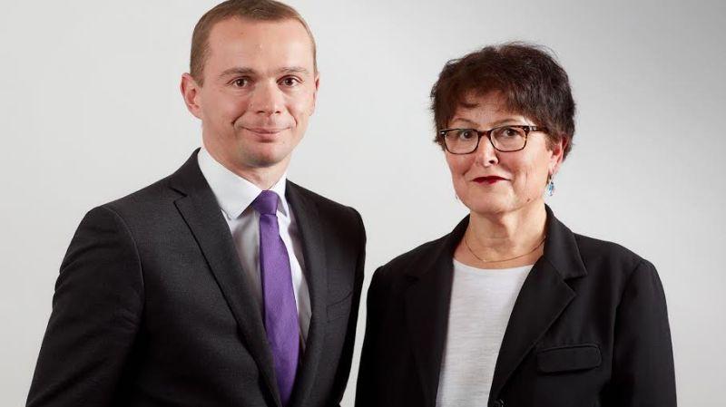 Michèle Victory (ici aux côtés d'Olivier Dussopt pour les législatives 2017)