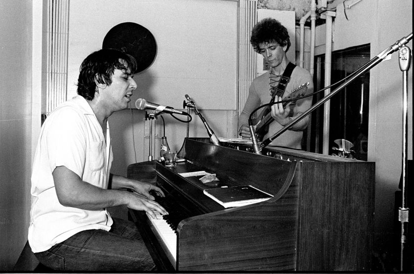 Lou Reed et John cale en studio à New York