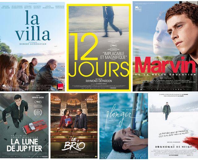 Les affiches des films critiqués au Masque ce dimanche 3 décembre 2017
