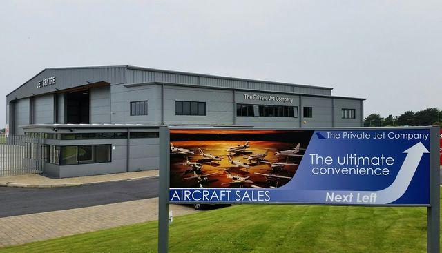 Jet centre de l'aéroport de Ronaldsway, Ile de Man