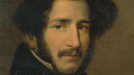 Portrait de Gaetano Donizetti (1797 - 1848), exposé au musée de la Scala (Milan, Italie).