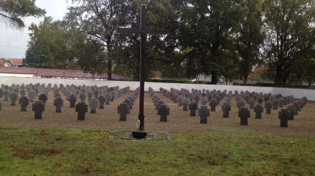 Le cimetière militaire allemand de Mont-de-Marsan accueille 258 tombes de soldats morts essentiellement pendant la Première Guerre mondiale.