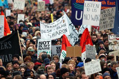 Marche contre la guerre en Irak le 15 février 2003 à Londres.