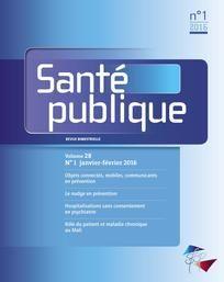 Santé publique n°1/28 javier-février 2016