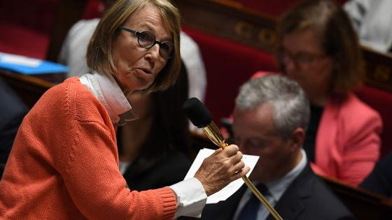 Françoise Nyssen, ministre de la Culture, lors d'une séance de questions au gouvernement à l'Assemblée nationale