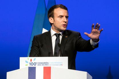 Emmanuel Macron lors de son discours devant les Maires de France