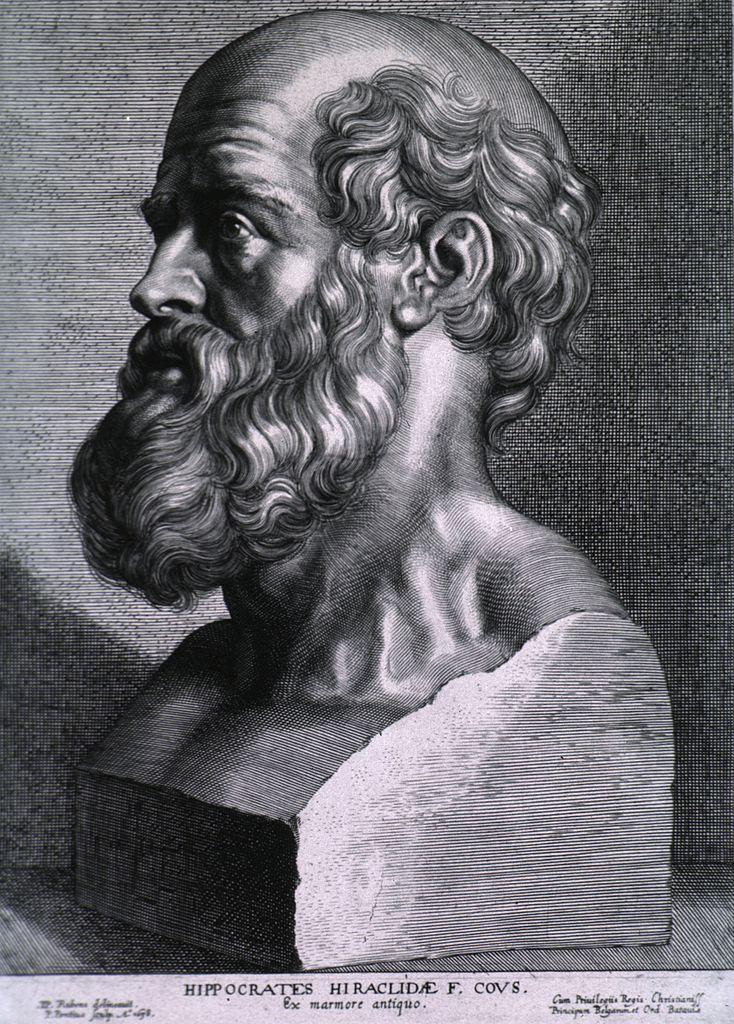 Hippocrates par Rubens (1638).