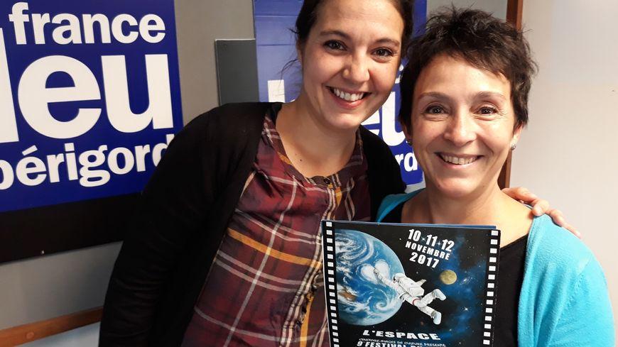 De gauche a droite Nina Loup Sailhan , Vice présidente  et Marie Hélène Saller, Présidente de  Ciné toilez