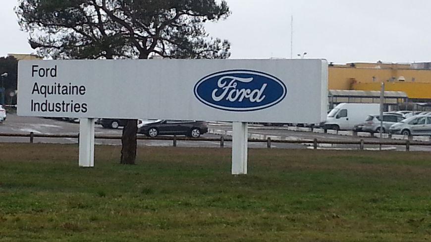 L'entrée de l'usine Ford, à Blanquefort
