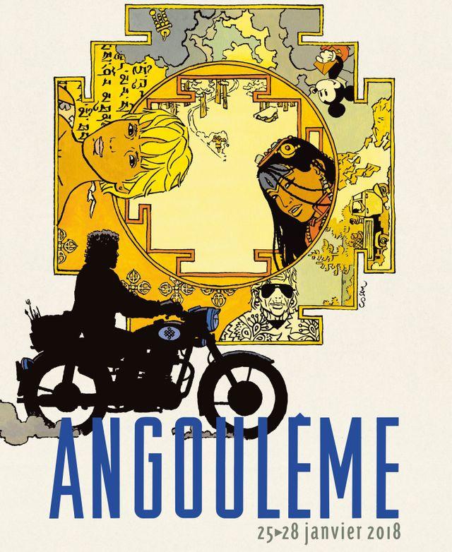 Affiche du Festival de la bande dessinée d'Angoulême 2018