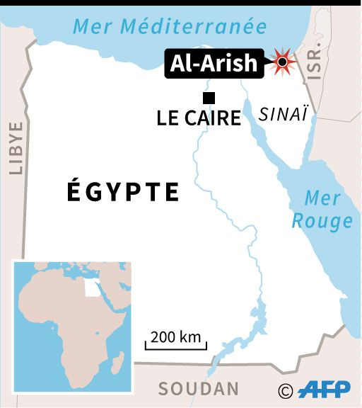 Al-Arish est à 40 km de Bir al-Abed, où se trouve la mosquée Al-Rawda attaquée le 24 novembre