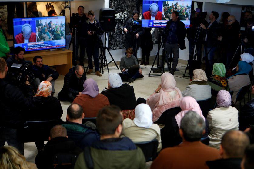 A Srebrenica proches des victimes et survivants suivent en direct le verdict du procès Mladic