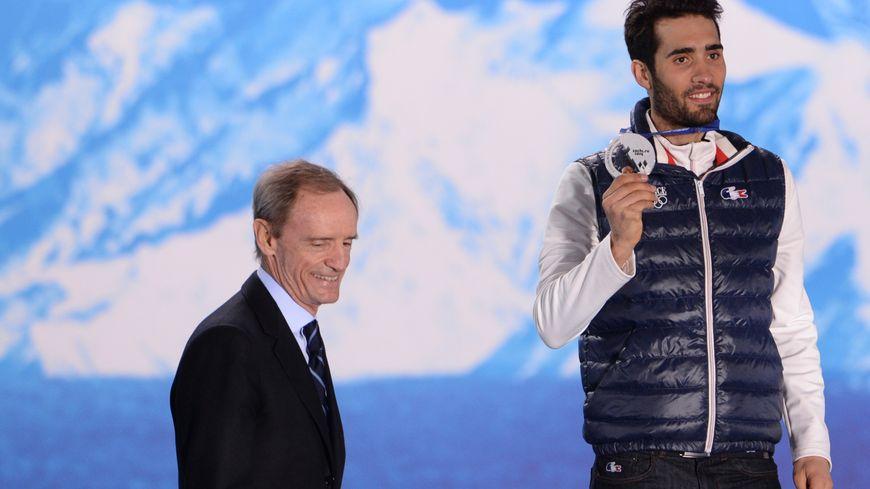 Aux JO de Sotchi en 2014, Jean-Claude Killy avait remis à Martin Fourcade sa médaille d'argent décrochée lors de la mass start