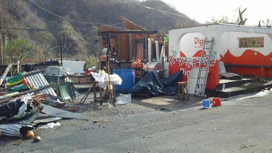 La maison de Véronique après le passage de l'ouragan Maria