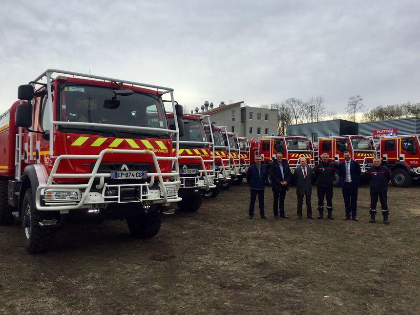 Les nouveaux camions citernes feux de forêts Gimaex du SDIS de la Loire