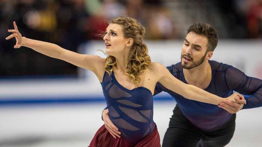 Guillaume Cizeron et Gabriella Papadakis, champion d'Europe sur glace