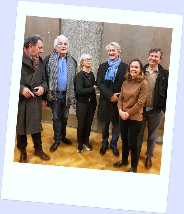 François Morel, Jacques Weber, Dominique Issermann, Didier Leik, Amélie Vialet et Antoine Sahler