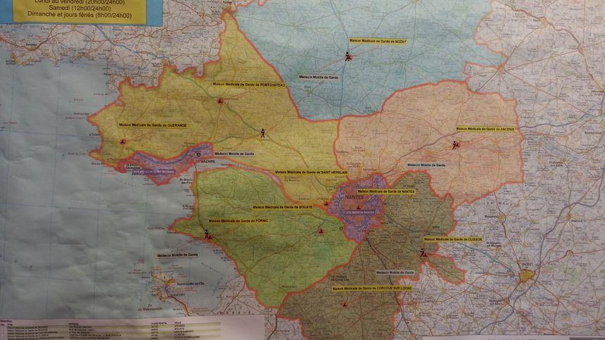 La carte des C.A.P.S de Loire-Atlantique