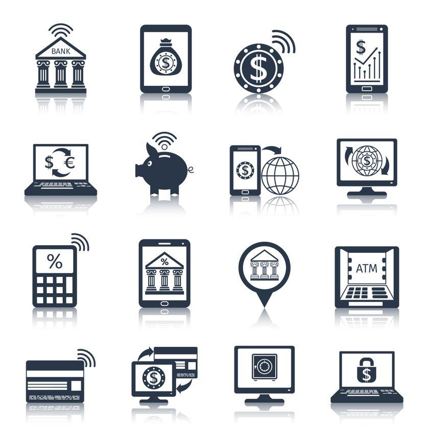 Icônes mobiles numériques