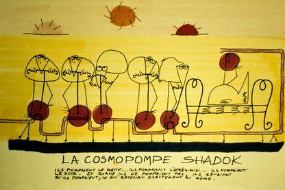 """Les shadoks sur la cosmopompe dans la deuxième série """"Les Shadoks"""" créée par Jacques Rouxel"""