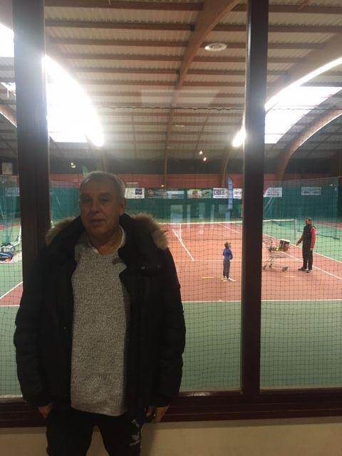 Pascal Pouille au club house du club de Loon Plage, là où Lucas Pouille a débuté le tennis