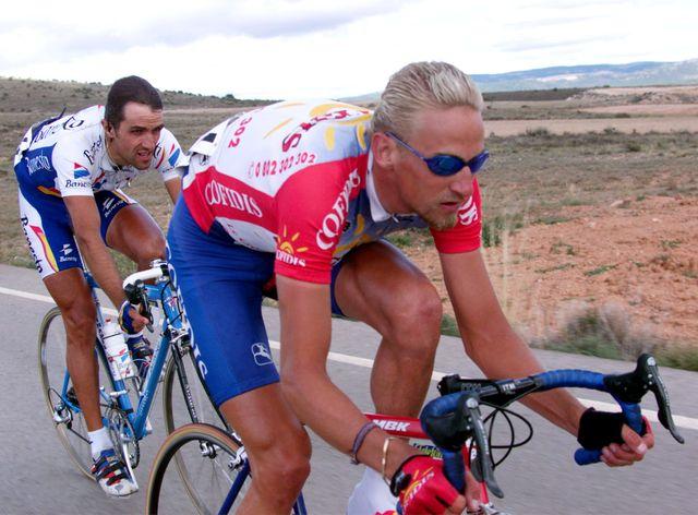 Le belge Franck VANDENBROUCKEau tour d'Espagne en 1999