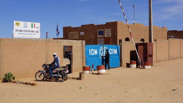 Le centre de transit de l'OIM à Agadez