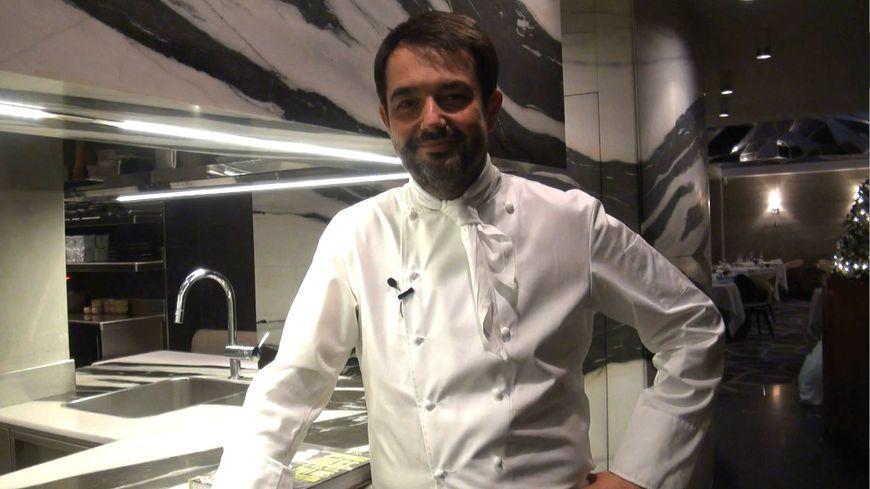 Jean-François Piège dans son Grand Restaurant, à Paris.