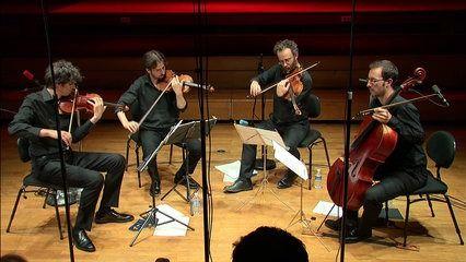 """Le Quatuor Béla joue le 2e quatuor à cordes de Frédéric Pattar, """"Ainsi la nuit"""" de Dutilleux, et un extrait du Mélodrame gallois de Frédéric Aurier. Enregistrement du 10 septembre 2016 à la Maison de la radio."""
