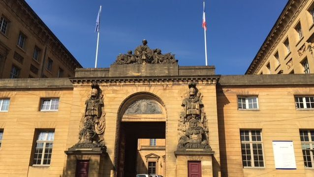 Le palais de justice de Metz.