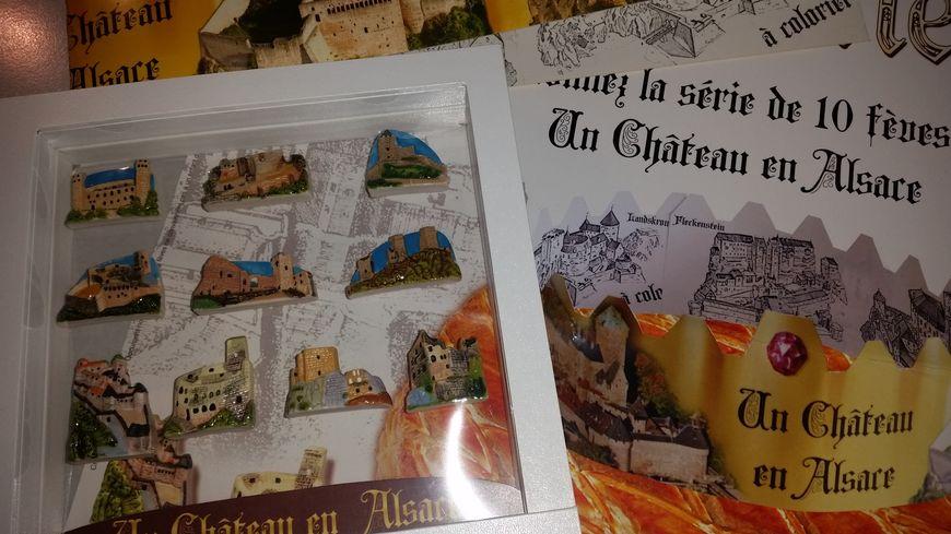 La série de fèves Un château en Alsace