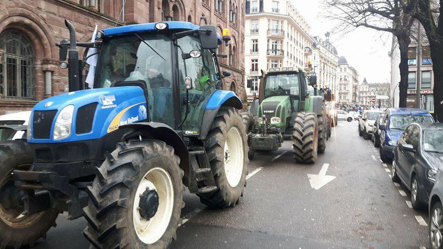Manifestation d'agriculteurs dans les rues de Metz