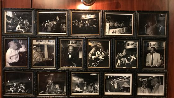 Mur des photos du Blue Note