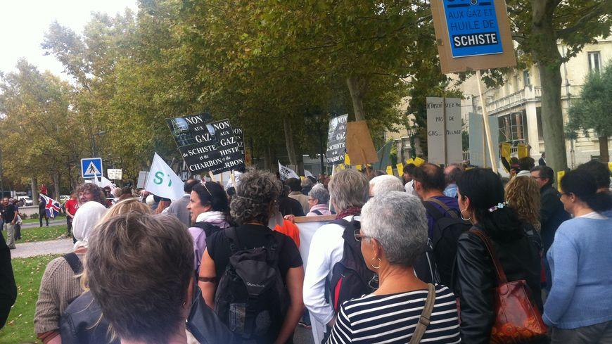 Manifestation anti gaz de schiste à Montélimar (Drôme)