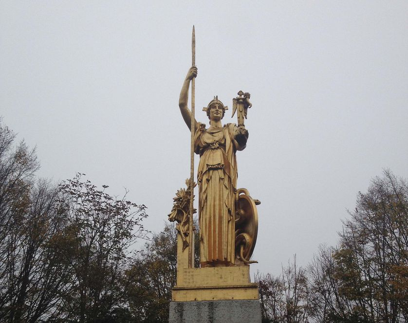"l'Histoire saluant la Protohistoire"" (Porte dorée)"