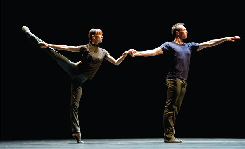 """Sylvie Guillem avec Nicolas Le Riche dans """"Rearray"""" de William Forsythe"""