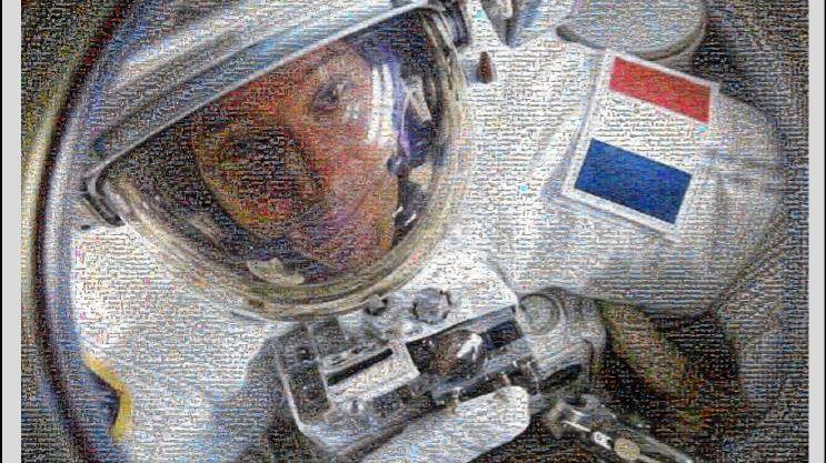 La mosaïque de 25 000 photos de Thomas Pesquet
