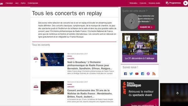 Emission spéciale : présentation du nouvel espace concerts de francemusique.fr