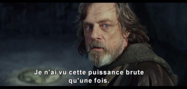 Capture d'écran de la bande annonce de Star Wars Les derniers Jedis