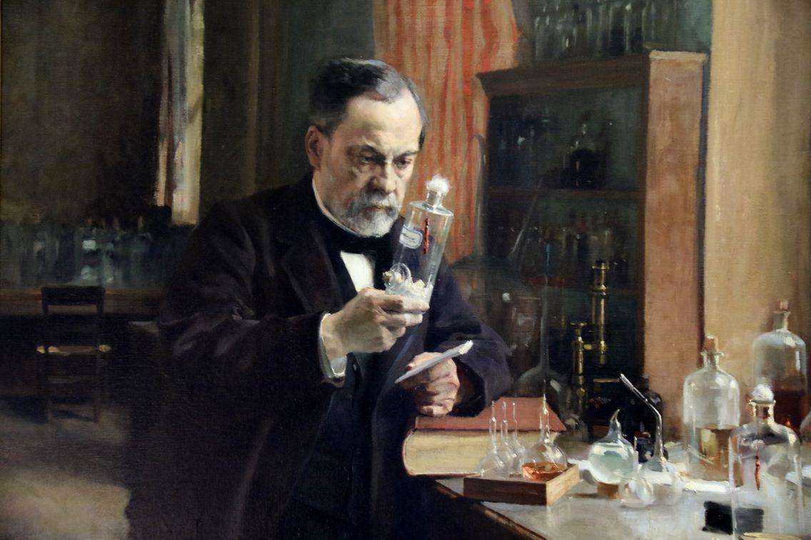 Portrait de Louis Pasteur par A. Edelfelt