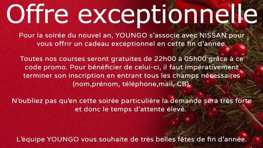 Offre spéciale d'une entreprise de VTC pour la Saint-Sylvestre
