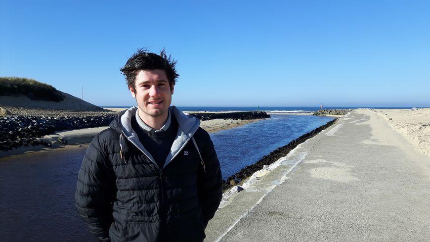 Kévin Bastiat, champion du monde de surf-casting, à Mimizan